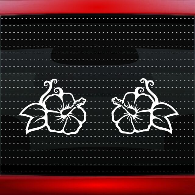 Hibiscus Decal Midnight Purple Vinyl Car Truck Wall Water Fade Resistant 6 In For Sale Online Ebay