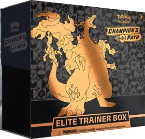 Champion's Path Elite Trainer Box ETB Sealed Pokemon TCG Charizard Promo SWSH50