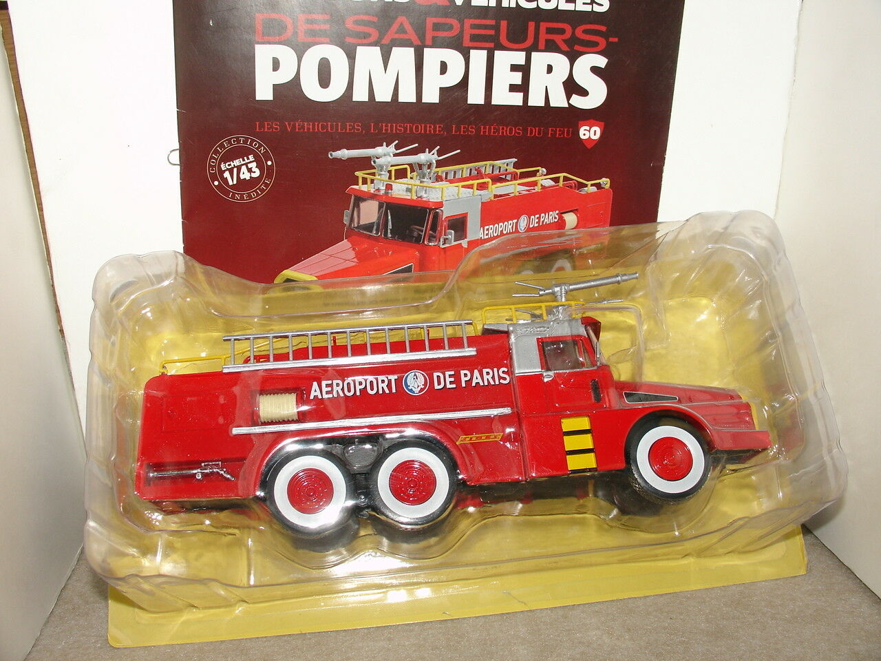 CAMIONS POMPIERS N° 60 AEROPORT VMA75 TYPE W8 DAE 6 DAE