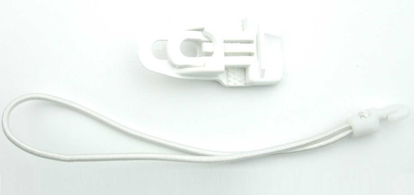 40 40 40 x Spannklammer weiss MIDI-CLIP-Planen-Spanner-Halter + 25cm Ø 4mm Spanngummi 063b9d