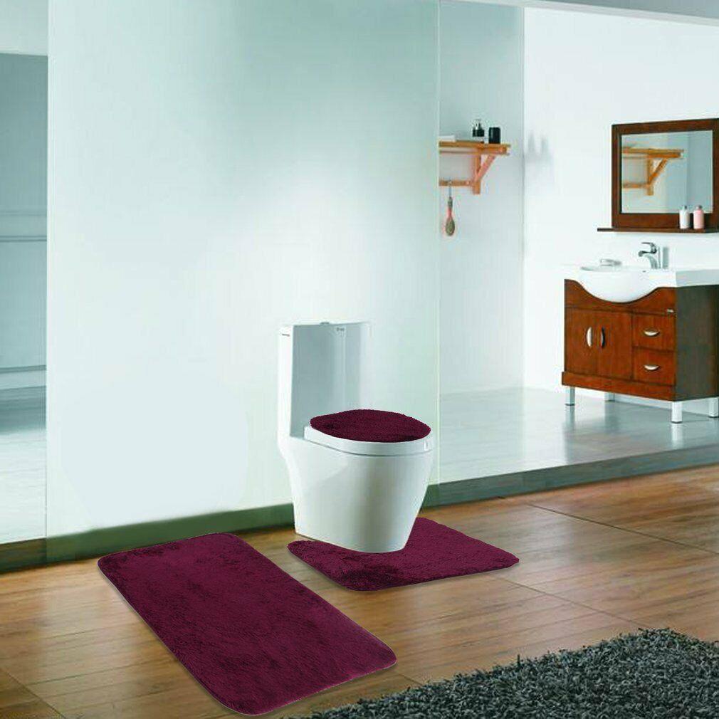 Home Non-Slip Floor Carpet 3 In 1 Bathroom Memory Foam Mat ...