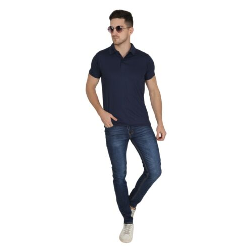 Details about  /Walking Men/'s Perfect Fit Polo Tshirt Navy Blue Color M-Size