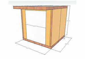 Insulated garden studio office room pod diy self build kit for Sips panels for sale