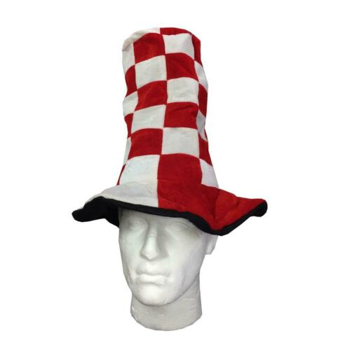 Adults Wacky Hat Red White And Blue White Hat Unisex Party Fancy Dress Accessory