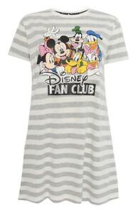 best place pick up sleek Détails sur DISNEY fan club Mickey Minnie Donald Goofy Chemise de nuit  nuisette femme Primark- afficher le titre d'origine