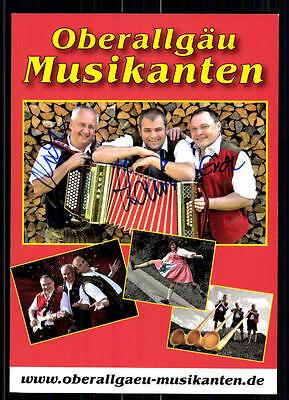 FäHig Oberallgäuer Musikanten Autogrammkarte Original Signiert## Bc 6091 Husten Heilen Und Auswurf Erleichtern Und Heiserkeit Lindern National