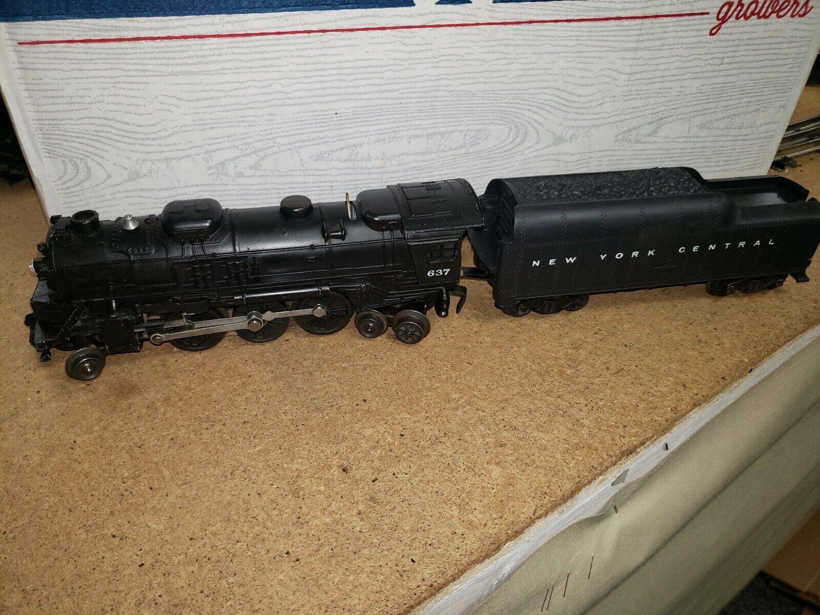 LIONEL POSTWAR 637 2-6-4 DIE CAST SsquadraER W TENDER correreNER 1959-63