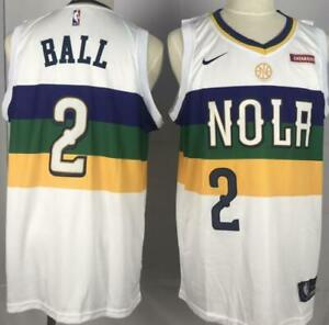 hot sale online 40327 9ca55 Details about NWT New Orleans Pelicans Lonzo Ball #2 mens jersey S-2XL