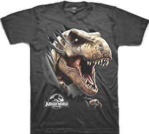 0cf48f7d2 Jurassic World T-Rex dinosaur 2 sided t-shirt Child 14-16 XL 18 XXL ...