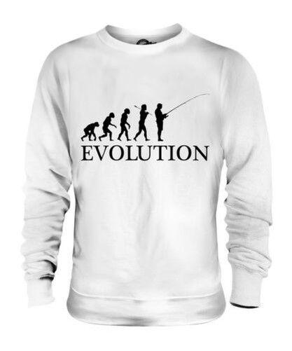 FISHING EVOLUTION OF MAN UNISEX SWEATER  Herren Damenschuhe LADIES GIFT CLOTHING ANGLING