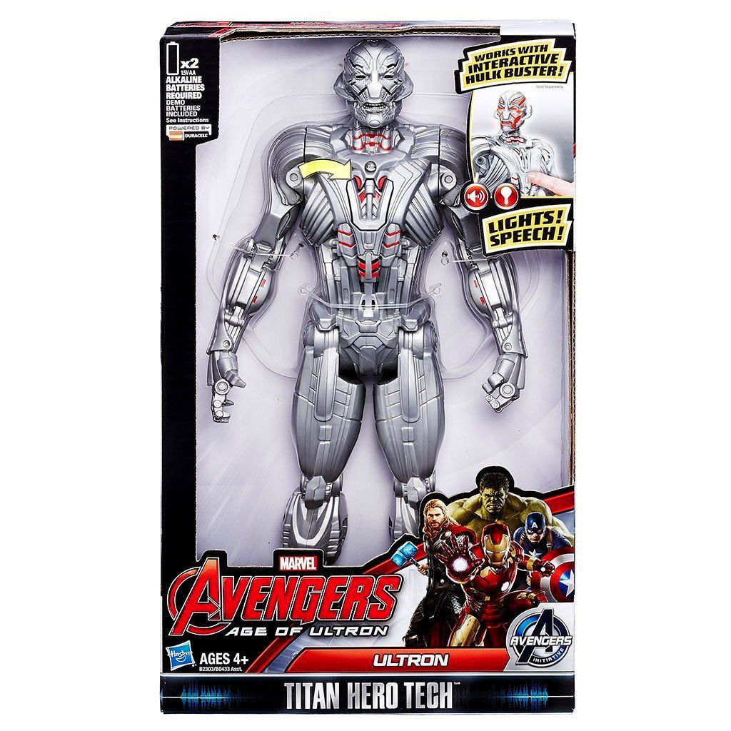 ELECTRONIC ULTRON (((( TALKING )))) AVENGERS  AGE OF ULTRON MARVEL ACTION FIGURE
