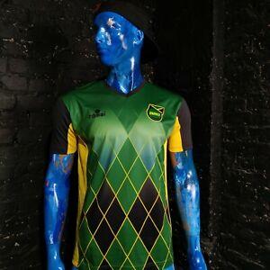 Jamaica-Team-Jersey-Football-Shirt-Romai-Trikot-Multicolor-Mens-Size-M