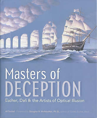 NEW BOOK Masters of Deception - Escher, Dal' & the Artists of Optical Illusion b