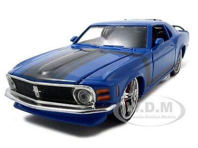 1970 FORD MUSTANG BOSS 302 BLUE 1/24 CUSTOM DIECAST MODEL CAR BY MAISTO 31329