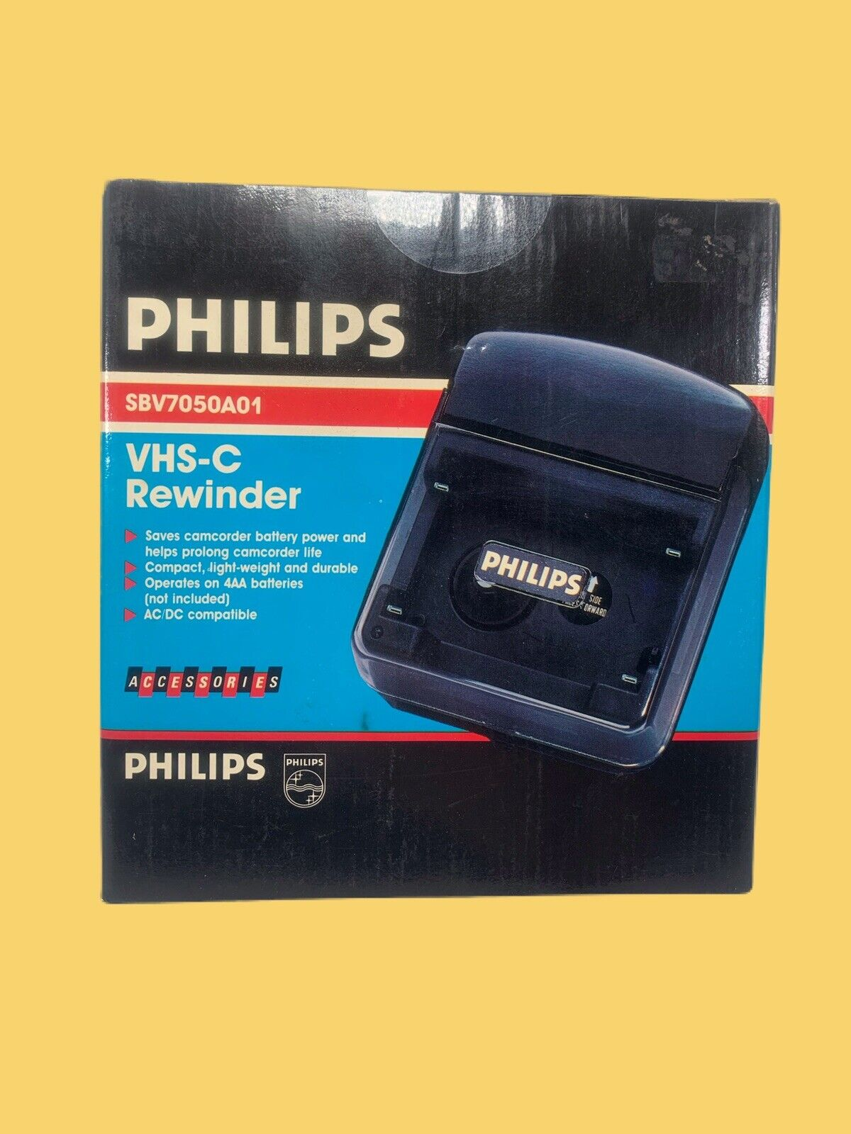 Philips VHS-C Compact VHS Tape Rewinder With Auto Shut-off ProlongsCamcorderLife