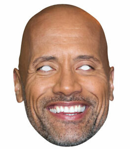 Dwayne Johnson Celebrity 2D Card Party Face Mask Hollywood Actor