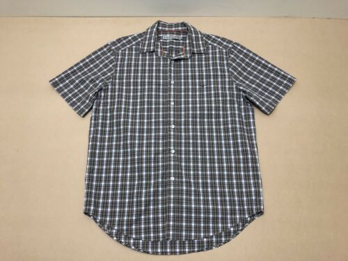 RM Williams Shirt Men Large Great Cond Short Sleeves Plaid Business Polo Top
