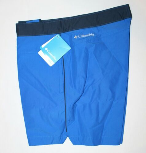 Columbia Men/'s Lakedale Cove Swim Trunks Shorts Stormy Blue Size 34