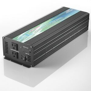 BRAND NEW PURE SINE WAVE POWER INVERTER 2000/4000 WATT 12V DC TO 120V AC!