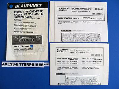 81 82 83 Porsche Blaupunkt CR 3001 Radio Stereo Cassette Owners Manual Book G148