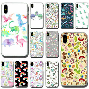 Cute-dinosaur-rainbow-Hard-Phone-Cover-Case-for-iPhone-11-Pro-Max-XS-XR-X-8-7-6