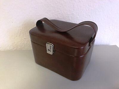 Alter 50/60er Jahre Koffer Kosmetikkoffer Vintage Antik Kosmetik Tasche Bag #rb