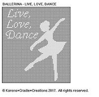 Ballerina - Live, Love, Dance Doily Filet Crochet Pattern