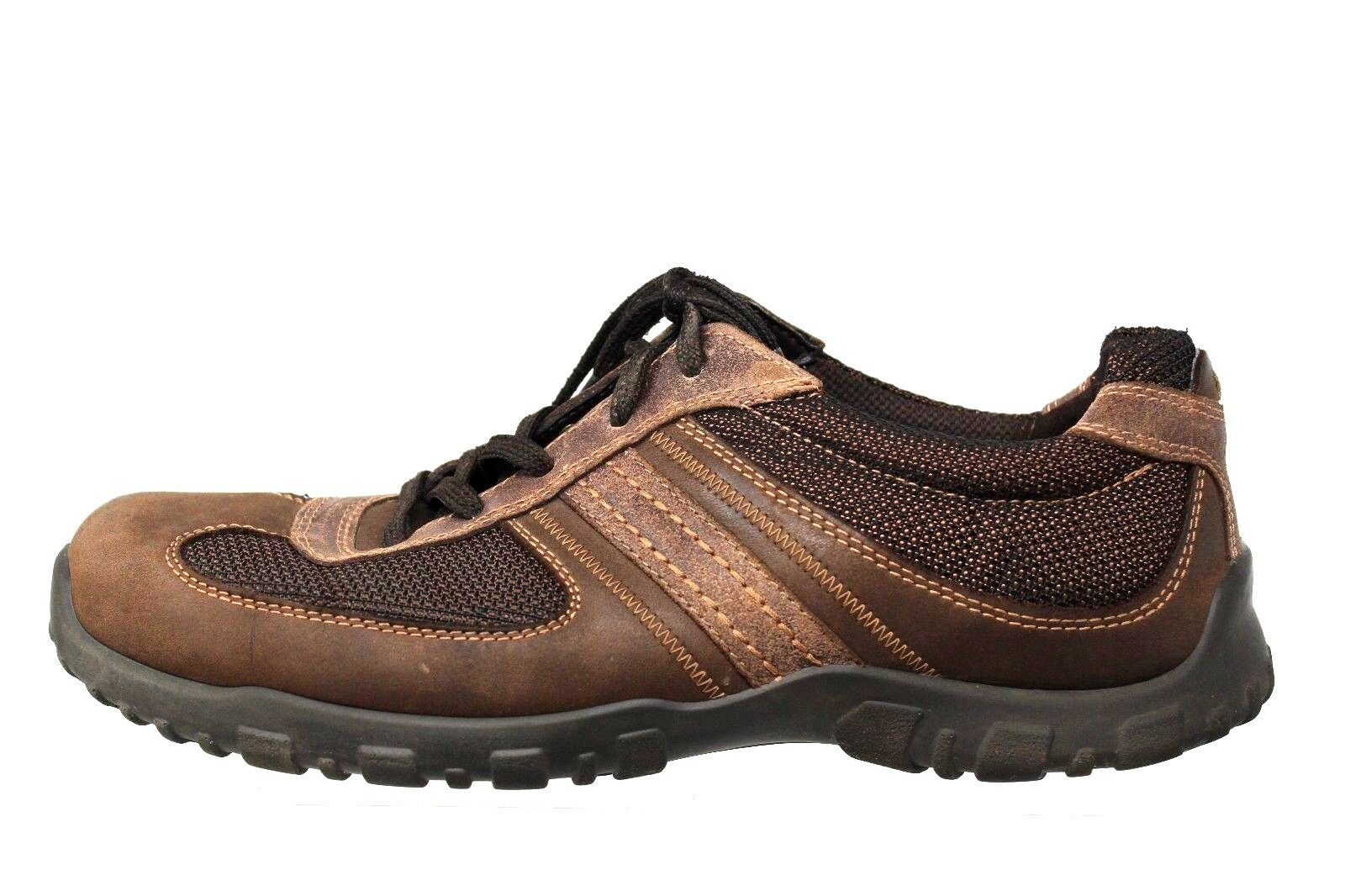 Ecco le di tracce di le pelle marrone delle escursioni a piedi da ginnastica scarpa Uomo sz 47 - 13 / 13,5 6a3447
