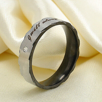 1Pc Couple Wedding Band Lover's Engagement Promise Ring Stainless Steel Ring