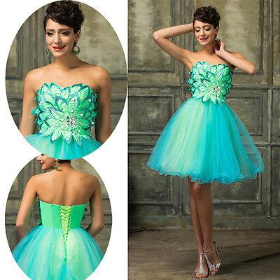 FAIRY! Tulle Formal Evening Graduation Party Bridesmaid Dresses Short Prom Dress