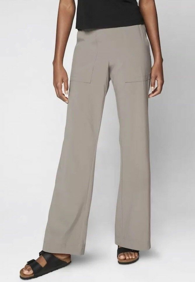 NWT Athleta Chelsea Cargo Wide Leg Pant, Light Asphalt, sz 16