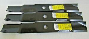 """3 REPL XHT HD USA BLADES JOHN DEERE TCU30317  HIGH LIFT 54/"""" DECKS 737 757 Z710A"""