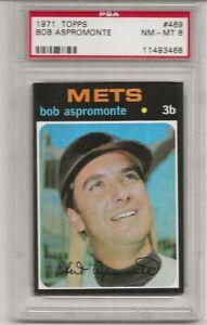 SET-BREAK-1971-TOPPS-469-BOB-ASPROMONTE-PSA-8-NM-MT-NEW-YORK-METS-L-K