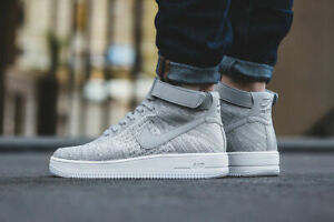 buy online 755d8 e6b57 Image is loading Nike-AF1-Air-Force-1-Ultra-Flyknit-Mid-