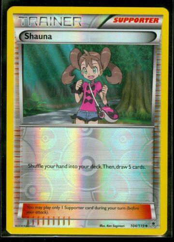 104//119 Reverse Foil Uncommon Pokemon Phantom Forces Shauna