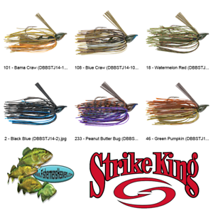 DBBSTJ14 Denny Brauer Structure BABY 1//4oz Pick Any 6 Colors Strike King Jig