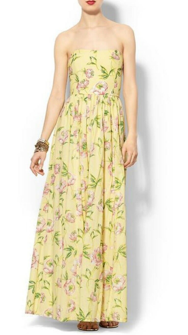 French Connection Piperlime 6 6 6 Nwt Spring Bloom Voile Maxi Dress S 8 197898