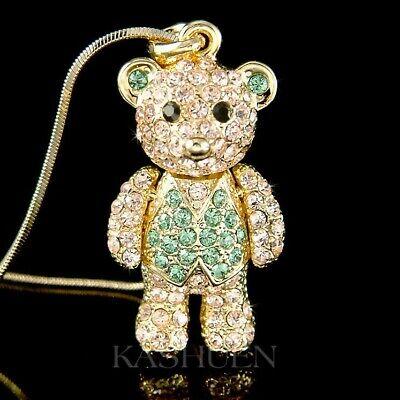 Super cute gold tone crystal movable panda stud earrings