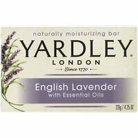 6 Pk Yardley London English Lavender Naturally Moisturizing Bath Bar 4.25oz Each on sale