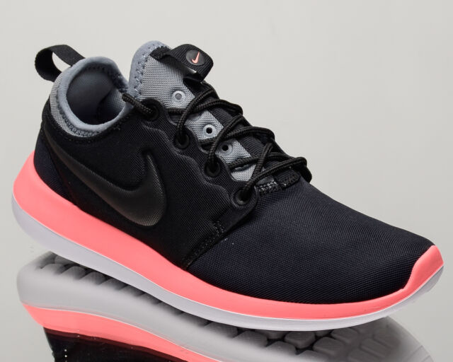 04364aa8ac25 Nike Roshe Two Womens 844931-006 Black Lava Grey Textile Running ...