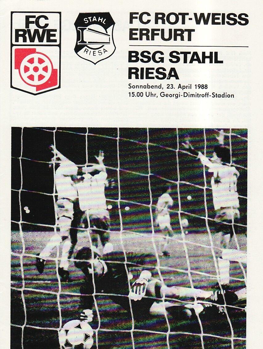 OL Rouge-blanc 87/88 FC Rouge-blanc OL Erfurt - BSG Acier Riesa 15b5f0