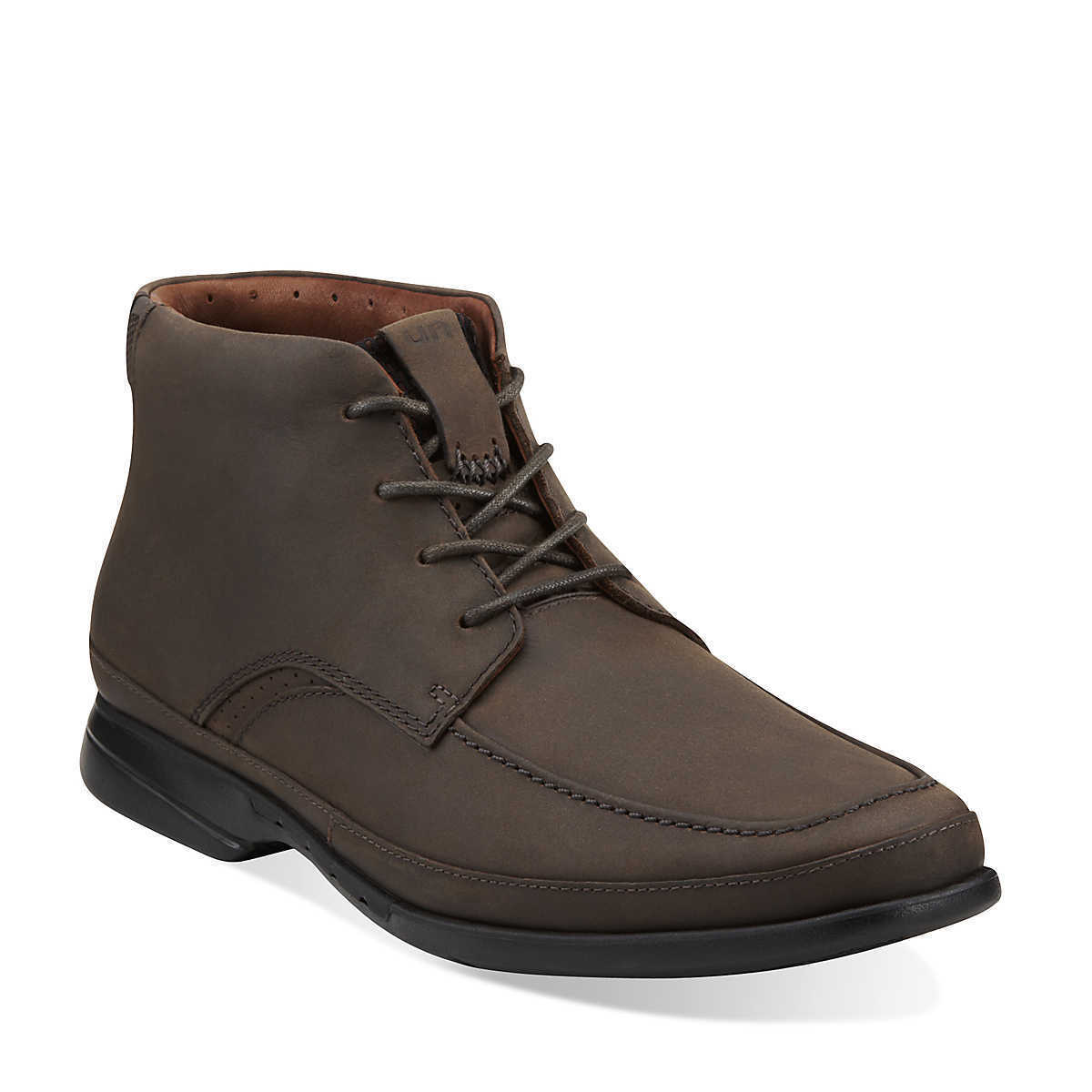 Men's Clarks Unstructured Un.Montag Ankle Lace Up Boot Brown Nubuck 62200 Wide