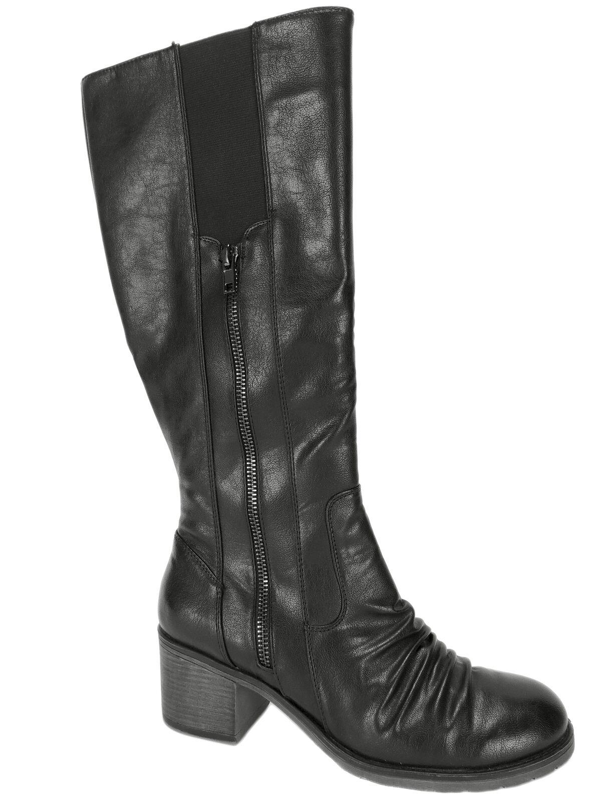 Bare Traps Women's Dallia Block-Heel Boots Black Size 11 M