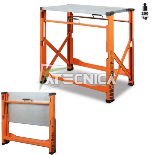 Banco da lavoro pieghevole portatile Beta C56P O piano in legno e lamiera 250Kg