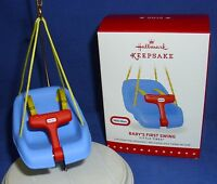 Hallmark Christmas Ornament Little Tikes Baby's First Swing 2015 Free Ship