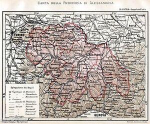 Cartina Geografica Provincia Di Firenze.Provincia Di Alessandria Nel 1891 Con Asti Carta Geografica Passepartout 1891 Ebay