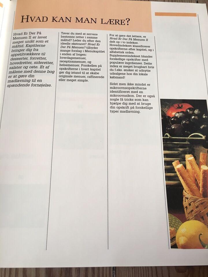 Hvad er der på menuen - Bind 2, emne: mad og vin