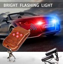Red/Blue White Police Emergency Dash Lights Bar Wireless Warning Flashing Lamp
