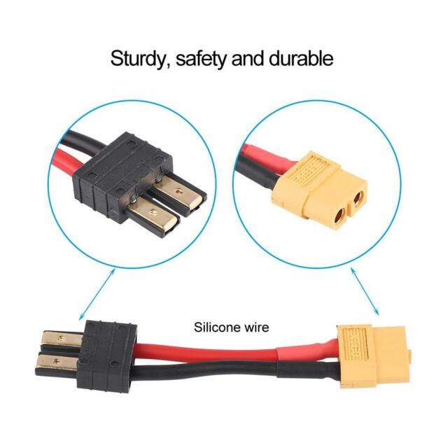 XT60 Male to TRX Female No wire adapter connector For RC Lipo Battery for Traxxa