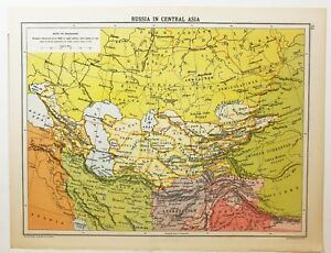 Map Of Russia In Russian.Historical Map Russia In Central Asia Persia Semipolatinsk Russian